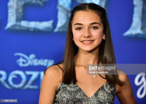 Mattea Conforti attends the Premiere of Disney's Frozen 2 at Dolby Theatre on November 07 2019 in Hollywood California