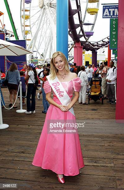 Mattel doll Barbie poses at the 4th Annual Party on the Pier benefitting the Mattel Children's Hospital at UCLA on the Santa Monica Pier on September...