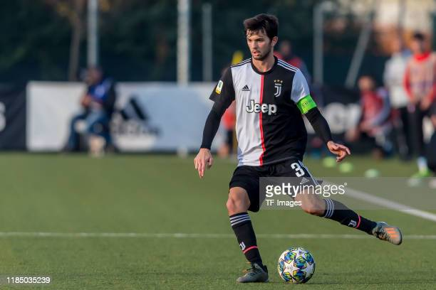 Matteo Anzolin of Juventus U19 controls the ball during the UEFA Youth League match between Juventus U19 and Atletico Madrid U19 on November 26 2019...