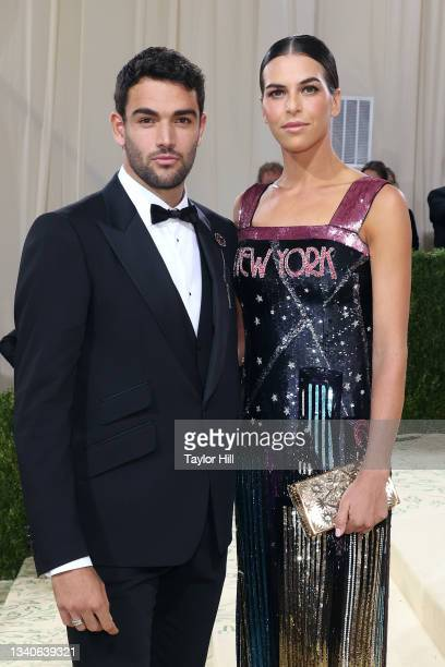 """Matteo Berretini and Ajla Tomljanovic attend the 2021 Met Gala benefit """"In America: A Lexicon of Fashion"""" at Metropolitan Museum of Art on September..."""