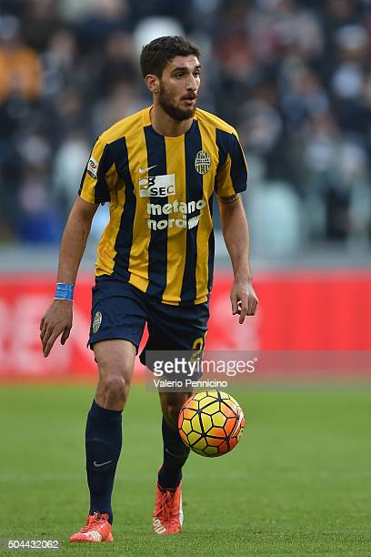 Matteo Bianchetti of Hellas Verona FC in action during the Serie A match between Juventus FC and Hellas Verona FC at Juventus Arena on January 6 2016...