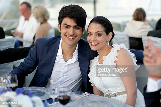 Matteo Bocelli and soprano Maria Aleida attend Alfred Mann Foundation's an Evening Under The Stars with Andrea Bocelli on June 8 2015 in Los Angeles...