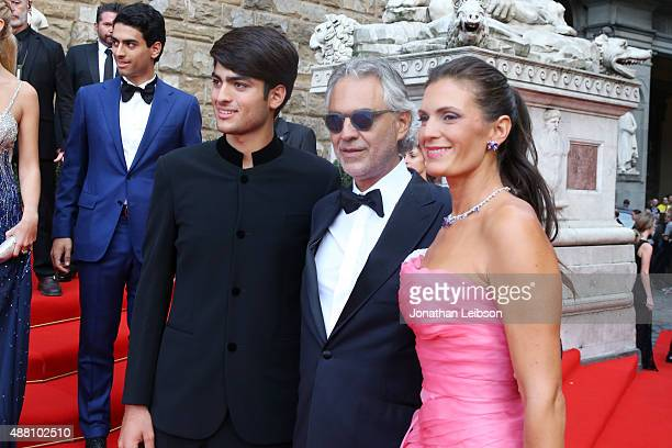 Matteo Bocelli Andrea Bocelli and his wife Veronica attend the Celebrity Fight Night gala at Palazzo Vecchio during 2015 Celebrity Fight Night Italy...