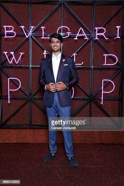 Matteo Bocelli attends BVLGARI Dinner Party at Stadio dei Marmi on June 28 2018 in Rome Italy