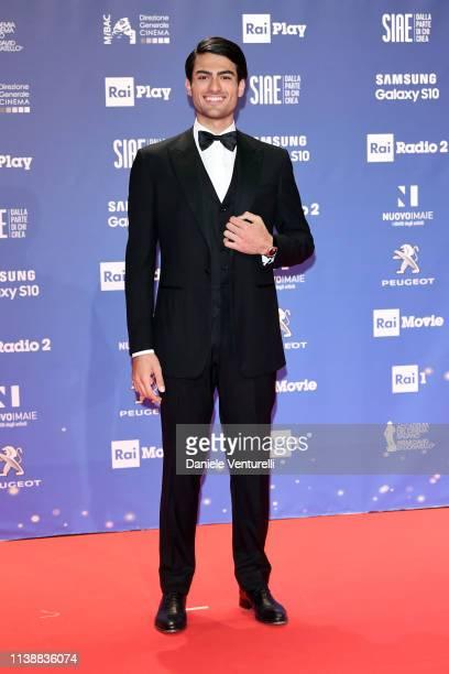 Matteo Bocelli attends the 64 David Di Donatello awards on March 27 2019 in Rome Italy