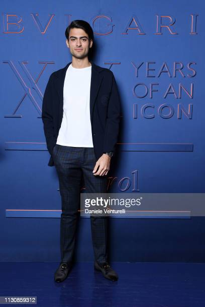 Matteo Bocelli attends the Bvlgari BZERO1 XX Anniversary Global Launch Event at Auditorium Parco Della Musica on February 19 2019 in Rome Italy