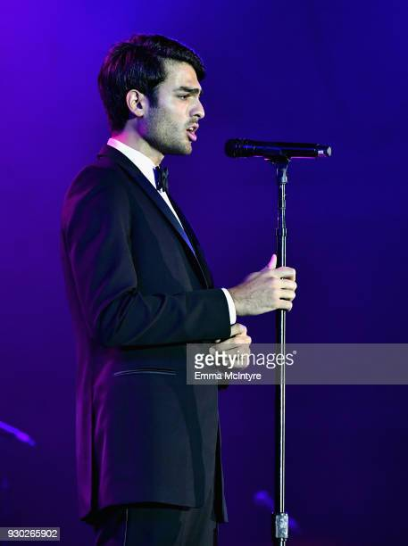 Matteo Bocelli performs onstage at Celebrity Fight Night XXIV on March 10 2018 in Phoenix Arizona