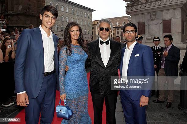 Matteo Bocelli, Veronica Bocelli, Andrea Bocelli and Amos Bocelli attend the Celebrity Fight Night In Italy Benefitting The Andrea Bocelli Foundation...