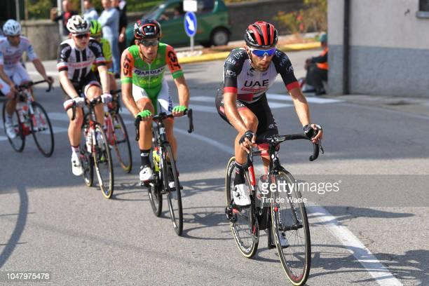 Matteo Bono of Italy and UAE Team Emirates / during the 98th Tre Valli Varesine 2018 a 197km race from Saronno to Varese on October 9, 2018 in...