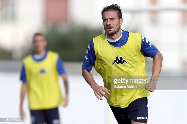 Matteo Brighi of Empoli FC in action during training session on September 18 2018 in Empoli Italy