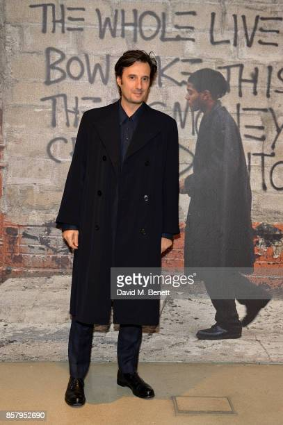 Matteo Ceccarini attends a private view of the Basquiat exhibition cohosted by NETAPORTER in partnership with Frieze at Barbican Centre on October 5...