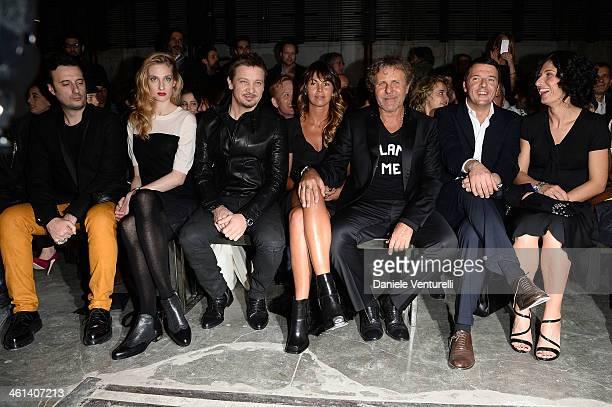 Matteo Ceccarini Eva Riccobono Jeremy Renner Arianna Lessi Renzo Rosso Matteo Renzi and Agnese Renzi attend Diesel Black Gold during the Pitti...