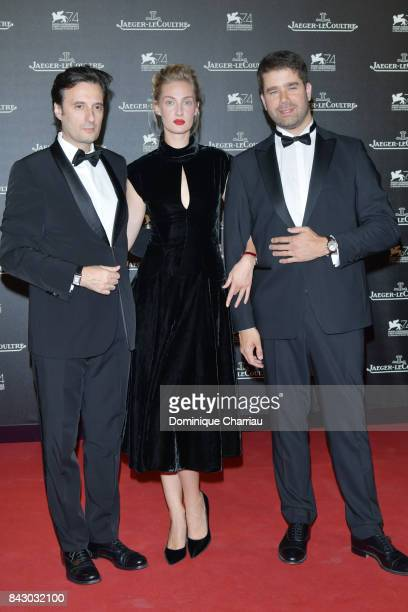Matteo Ceccarini,Eva Riccobono and Deputy CEO of Jaeger-LeCoultre Geoffroy Lefebvre arrive for the Jaeger-LeCoultre Gala Dinner during the 74th...