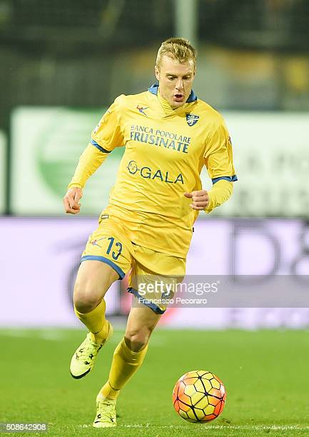 Matteo Ciofani of Frosinone in action during the Serie A match between Frosinone Calcio and Bologna FC at Stadio Matusa on February 3 2016 in...