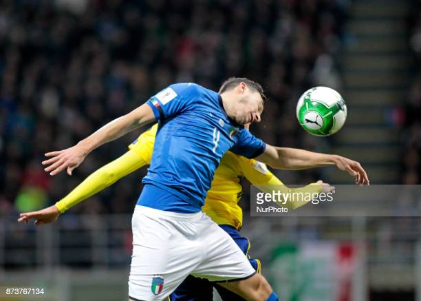 Matteo Darmian during the playoff match for qualifying for the Football World Cup 2018 between Italia v Svezia in Milan on November 13 2017