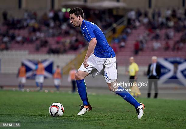 Matteo Darmian of Italy in action during the international friendly between Italy and Scotland on May 29 2016 in Malta Malta