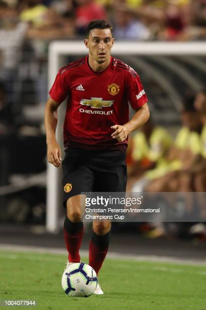 Matteo Darmian of Manchester United controls the ball during the International Champions Cup game against Club America at the University of Phoenix...