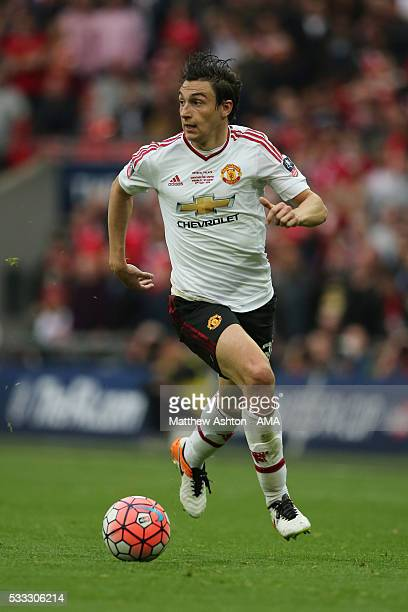 LONDON ENGLAND MAY 21 Matteo Darmian of Manchester United during The Emirates FA Cup final match between Manchester United and Crystal Palace at...