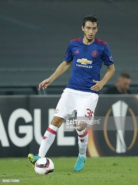Matteo Darmian of Manchester United during the Europa League group A match between Feyenoord and Manchester Uinited on September 15 2016 at the Kuip...