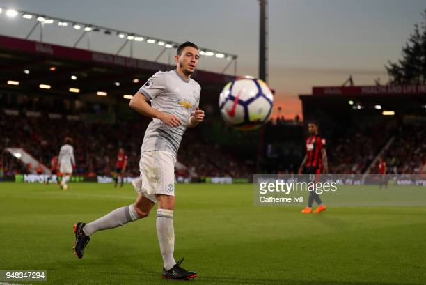 Matteo Darmian of Manchester United during the Premier League match between AFC Bournemouth and Manchester United at Vitality Stadium on April 18...