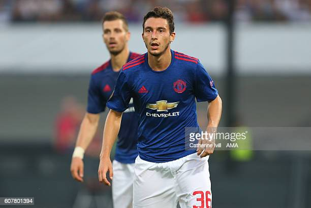Matteo Darmian of Manchester United during the UEFA Europa League match between Feyenoord and Manchester United at Feijenoord Stadion on September 15...