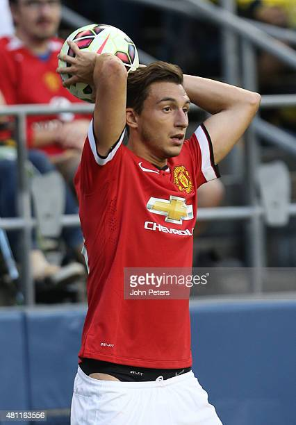 Matteo Darmian of Manchester United in action during the International Champions Cup 2015 match between Manchester United and Club America at...