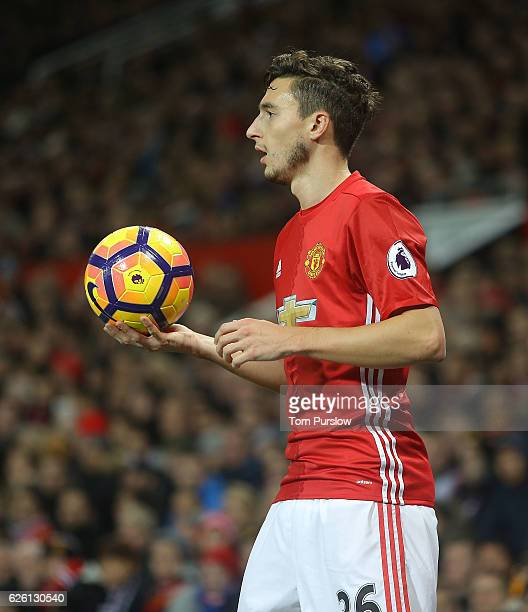 Matteo Darmian of Manchester United in action during the Premier League match between Manchester United and West Ham United at Old Trafford on...