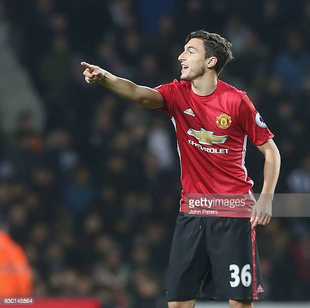 Matteo Darmian of Manchester United in action during the Premier League match between West Bromwich Albion and Manchester United at The Hawthorns on...