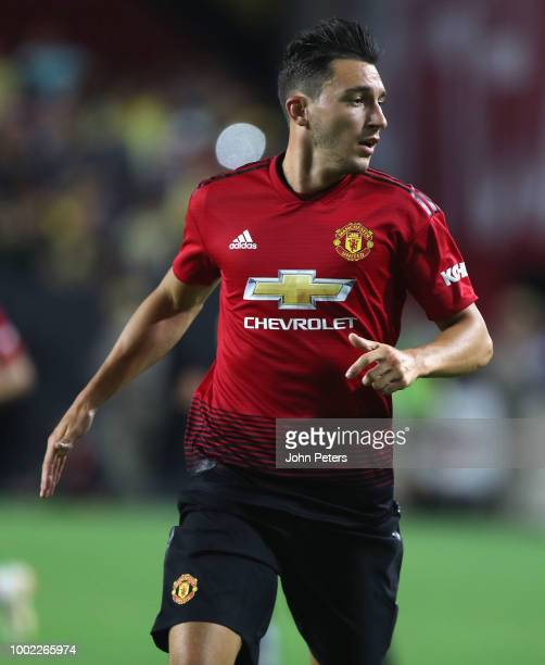 Matteo Darmian of Manchester United in action during the preseason friendly match between Manchester United and Club America at University of Phoenix...