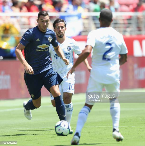 Matteo Darmian of Manchester United in action during the preseason friendly match between Manchester United and San Jose Earthquakes at Levi's...