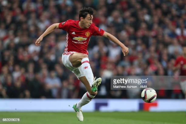 Matteo Darmian of Manchester United in action during the UEFA Europa League semi final second leg match between Manchester United and Celta Vigo at...