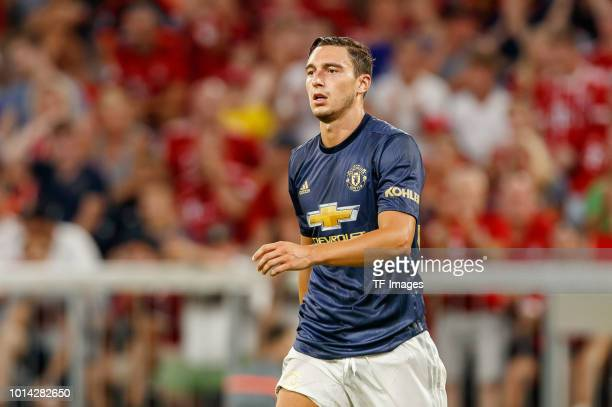Matteo Darmian of Manchester United looks on during the friendly match between Bayern Muenchen and Manchester United at Allianz Arena on August 5...