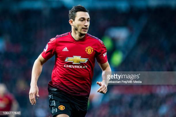 Matteo Darmian of Manchester United looks on during the Premier League match between Manchester United and Crystal Palace at Old Trafford on November...