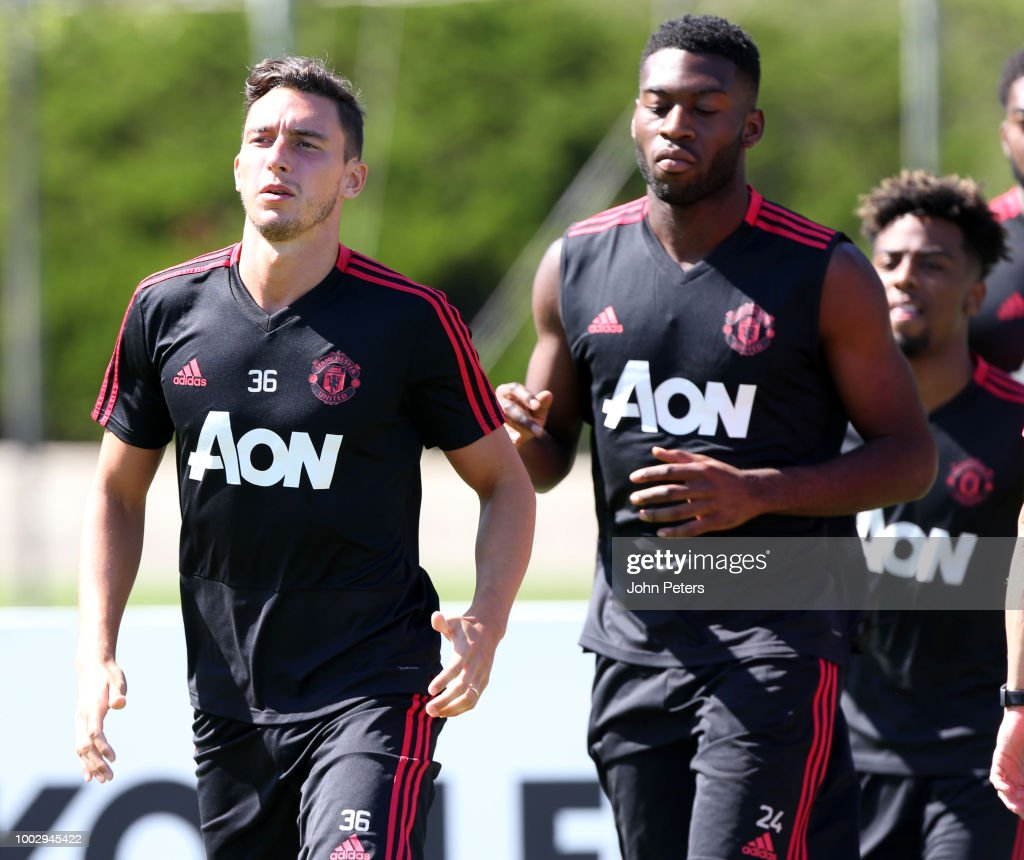 Matteo Darmian of Manchester United of Manchester United in action during a Manchester United pre-season training session at UCLA on July 20, 2018 in Los Angeles, California.