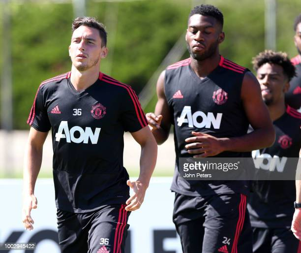 Matteo Darmian of Manchester United of Manchester United in action during a Manchester United preseason training session at UCLA on July 20 2018 in...