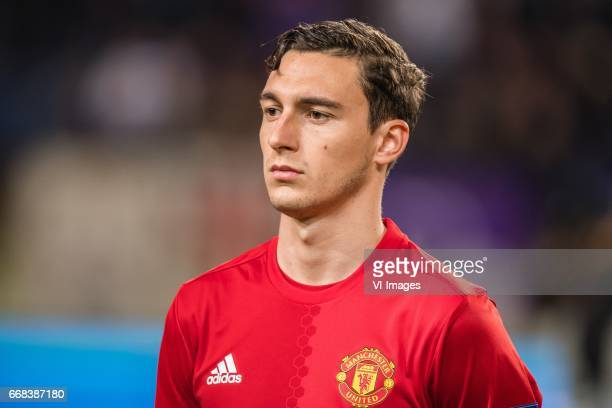 Matteo Darmian of Manchester Unitedduring the UEFA Europa League quarter final match between RSC Anderlecht and Manchester United on April 13 2017 at...