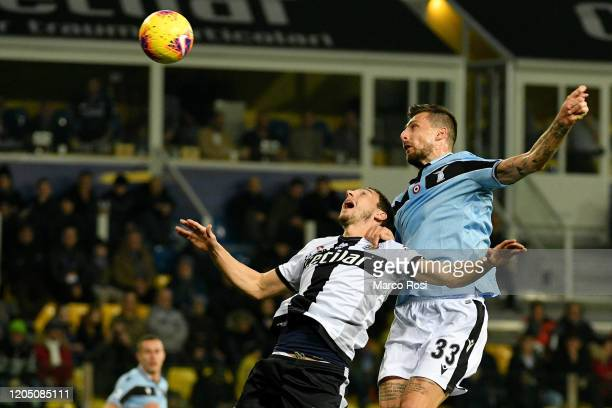 Matteo Darmian of Parma Calcio competes for the ball with Francesco Acerbi of SS Lazio during the Serie A match between Parma Calcio and SS Lazio at...