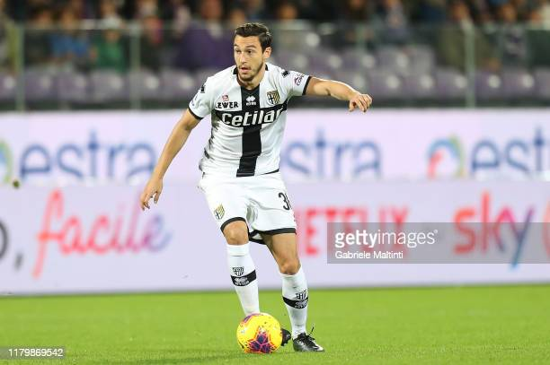 Matteo Darmian of Parma Calcio in action during the Serie A match between ACF Fiorentina and Parma Calcio at Stadio Artemio Franchi on November 3,...