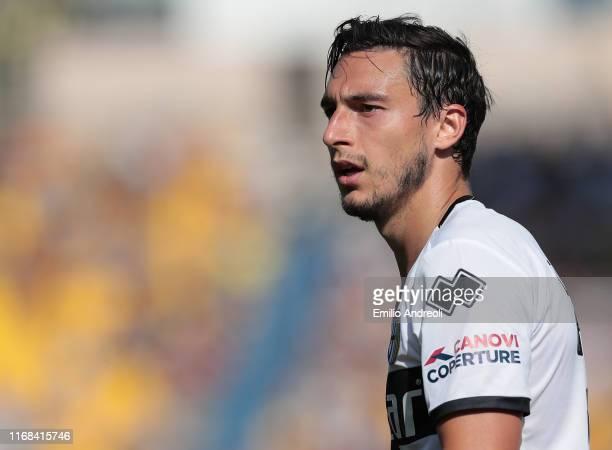 Matteo Darmian of Parma Calcio looks on during the Serie A match between Parma Calcio and Cagliari Calcio at Stadio Ennio Tardini on September 15,...