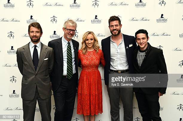 Matteo Del Vecchio Brooks Brothers Claudio Del Vecchio Chairman and CEO Brooks Brothers Nastia Liukin Jesse Palmer and Robin Taylor attend Brooks...