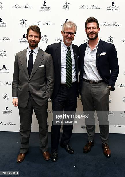 Matteo Del Vecchio Brooks Brothers Claudio Del Vecchio Chairman and CEO Brooks Brothers and Jesse Palmer attend Brooks Brothers holiday celebration...