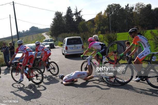 Matteo Draperi of Italy and Team Sangemini Mgkvis Olmo Vega / Marco Frapporti of Italy and Team Androni Giocattoli / Manuel Belletti of Italy and...