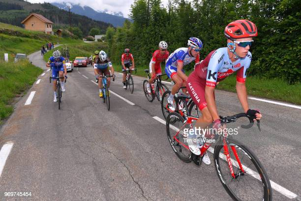 Matteo Fabbro of Italy and Team Katusha Alpecin / Bruno Armirail of France and Team Groupama FDJ / Nicolas Edet of France and Team Cofidis / Alexis...