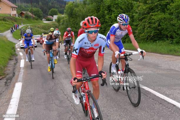Matteo Fabbro of Italy and Team Katusha Alpecin / Bruno Armirail of France and Team Groupama FDJ / Alexis Gougeard of France and Team AG2R La...