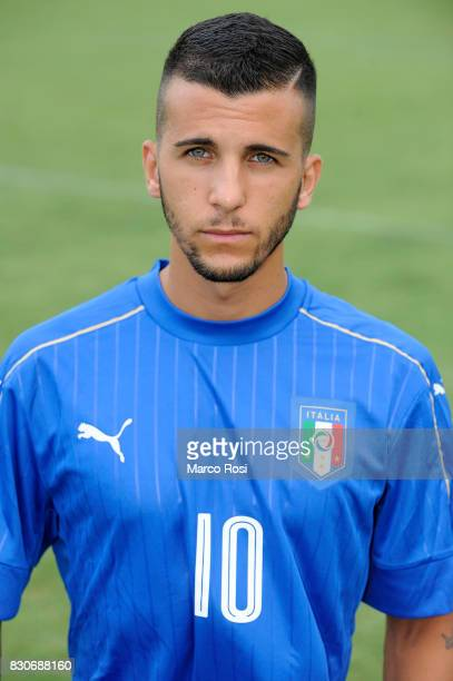 Matteo Faiola during the Italy University Photoshoot on August 12 2017 in Rome Italy