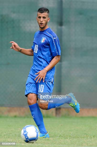 Matteo Faiola of Italy during the frienldy match between Italy University and ASD Audace on August 12 2017 in Rome Italy