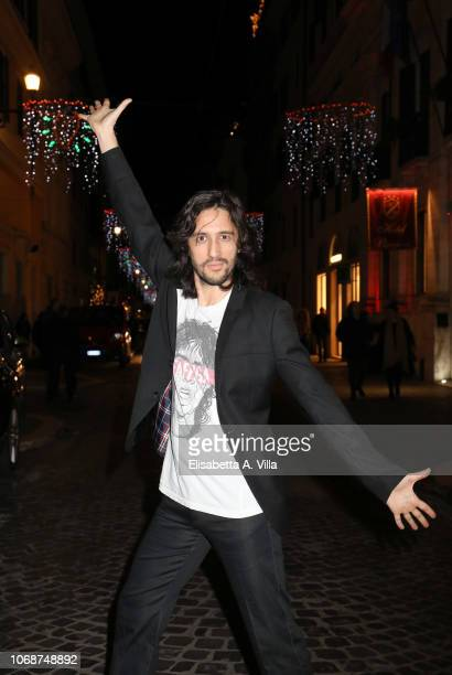 Matteo Gabbianelli of Kutso attends as the festive lights are switched on at Via del Babuino on December 5 2018 in Rome Italy