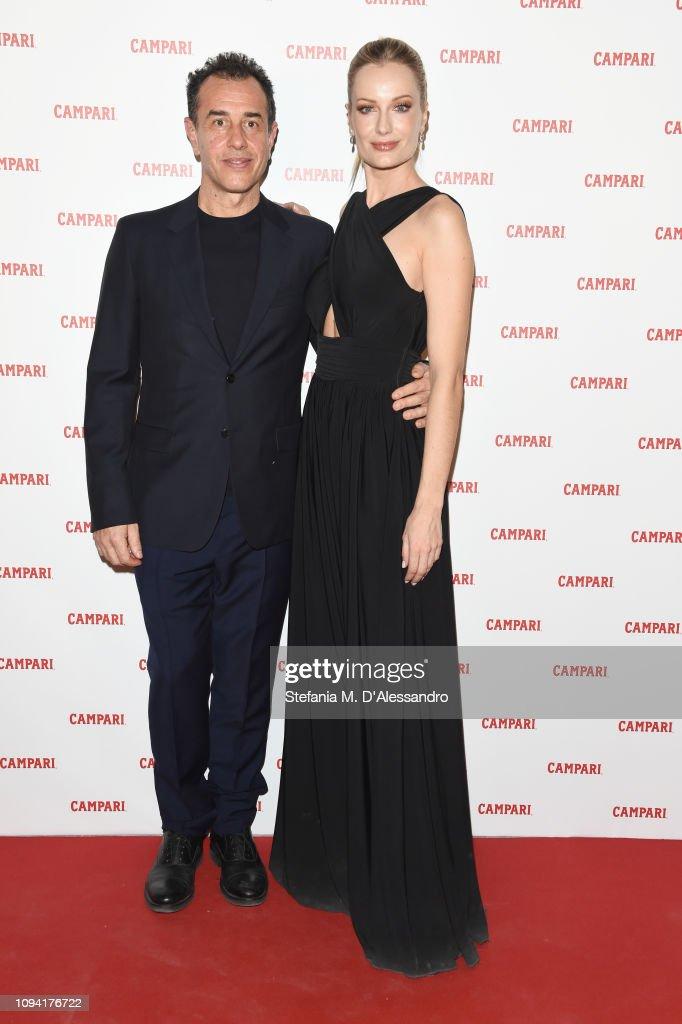 30b1ed4ef65 Matteo Garrone and Renata Zanchi attend Campari Red Diaries 2019 ...