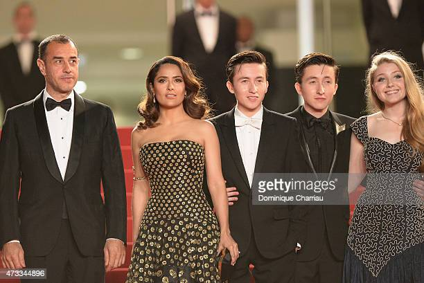 Matteo Garrone Salma Hayek Christian Lees Jonah Lees and Bebe Cave attend the Il Racconto Dei Racconti Premiere during the 68th annual Cannes Film...