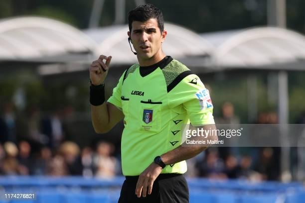 Matteo Gualtieri referee during the Serie A Primavera match between Empoli U19 and Napoli U19 on October 7 2019 in Empoli Italy